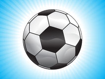 Abstract football. With shining rays vector illustration Royalty Free Illustration
