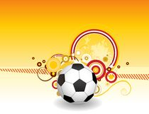 Abstract football art creative design Royalty Free Stock Photo