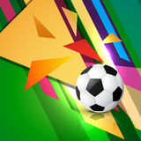 Abstract football art. Abstract style football soccer design Stock Photography