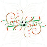 Abstract football background. With green red spiral Royalty Free Stock Images