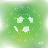 Abstract football background. With green mesh Stock Images