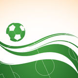 Abstract football background. With green field Stock Photography