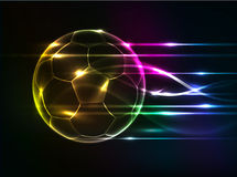 Abstract football background. Abstract colorful football isolate on black Royalty Free Stock Image