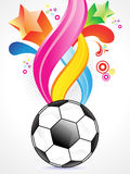 Abstract football background design Royalty Free Stock Images