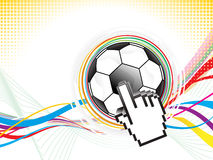 Abstract football background design Stock Images