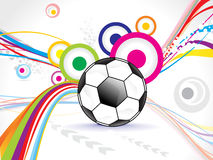 Abstract football background design Stock Photos