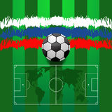 Abstract football background eps 10  illustration Royalty Free Stock Photos