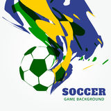 Abstract football background. Abstract football game background design Stock Photo