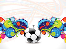 Abstract football background with magical wave Stock Photo