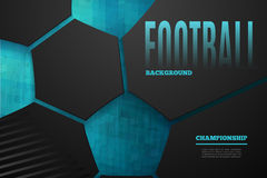 Abstract football background Royalty Free Stock Photography