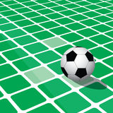 Abstract football background with square. Abstract football background with perspective green square Stock Images