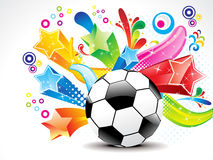 Abstract football with colorful star Royalty Free Stock Images