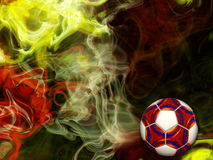 Abstract Football Colors. Abstract illustration of a football ball with colors Royalty Free Stock Photos