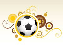 Abstract football creative design Stock Photo