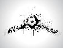 Abstract football creative design Royalty Free Stock Photo