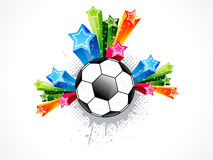 Abstract football explode Stock Image