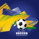 Abstract football game. Abstract brazil soccer game background Royalty Free Stock Photo