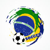 Abstract football game. Abstract brazil soccer game background Stock Photo