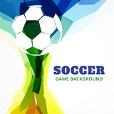 Abstract football game. Abstract soccer game design background Royalty Free Stock Image