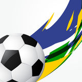 Abstract football game. Abstract style soccer game background design Royalty Free Stock Photography