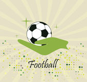Abstract football logo Stock Images