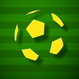 Abstract football on a pitch Royalty Free Stock Image