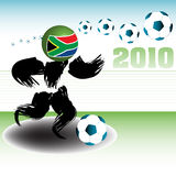 Abstract football player Stock Images