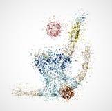 Abstract football player. Kick a ball. Eps 10 Stock Image