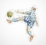 Abstract football player. Football player, kick a ball. Eps 10 Royalty Free Stock Photography