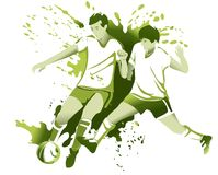 Abstract football players Stock Images