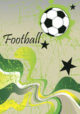Abstract football poster .Green background Royalty Free Stock Images