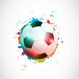 Abstract football poster grunge Stock Photography