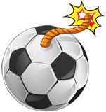 Abstract football shaped like a bomb Royalty Free Stock Photography