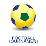 Abstract football (soccer)  background. Stock Image