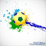 Abstract football (soccer)  background. Stock Photos