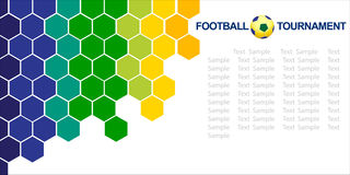 Abstract football (soccer)  background. Royalty Free Stock Photo