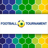 Abstract football (soccer)  background. Royalty Free Stock Images