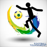 Abstract football (soccer)  background. Royalty Free Stock Photography