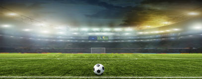 Abstract football or soccer backgrounds Stock Image