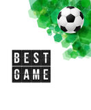 Abstract football soccer poster. Vector illustration. Royalty Free Stock Photography