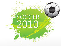 Abstract football with soccer text Royalty Free Stock Image