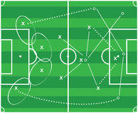 Football tactic. Abstract vector football tactic  design Royalty Free Stock Images