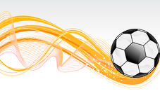 Abstract football wave background Royalty Free Stock Image