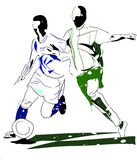 Abstract footballers. Abstract image of two football players Stock Photography