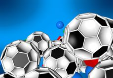 Abstract footballl soccer 3d. Shapes background Royalty Free Stock Photo