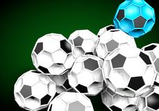 Abstract footballl soccer 3d. Shapes background Stock Photos
