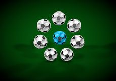Abstract footballl soccer 3d. Shapes background Royalty Free Stock Image
