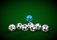 Abstract footballl soccer 3d. Shapes background Stock Images