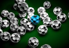 Abstract footballl soccer 3d. Shapes background stock illustration