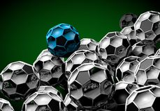 Abstract footballl soccer 3d. Shapes background royalty free illustration
